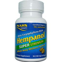 NAHS Hempanol SUPER STRENGTH-Whole Body Wellness Formula 50 soft-gels