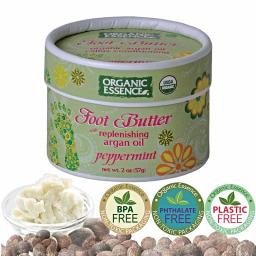 ORGANIC ESSENCE Foot Butter with Argan Oil & Peppermint [57g]