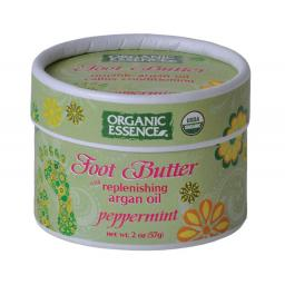 Organic Essence ZERO WASTE Replenishing Foot Butter with Argan Oil & Peppermint 57g