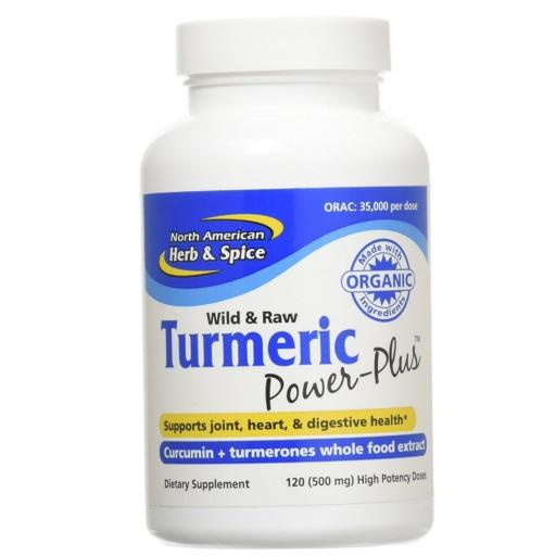 NAHS Raw TURMERIC Power-Plus - Curcumin + turmerones whole food extract